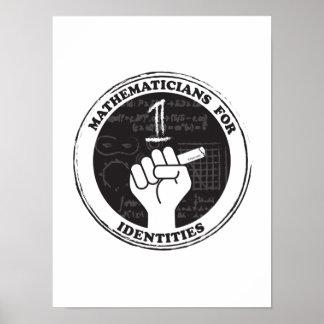 Póster Matemáticos para el poster de las identidades