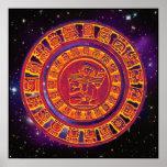 Poster maya del calendario de la largo-cuenta
