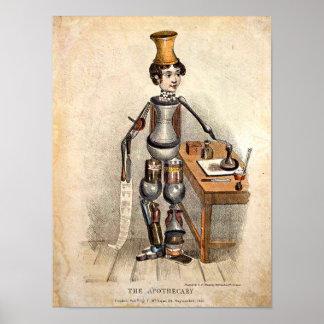 Póster Medicina del vintage: copia 1850 de la imagen el