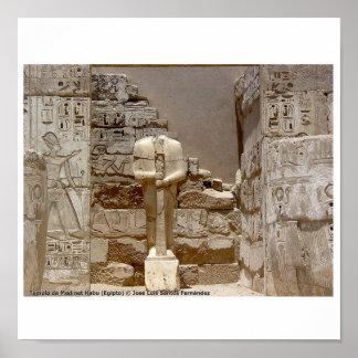 Póster Medinet Habu Egipto 070