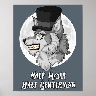 """Póster Medio caballero del medio lobo 16"""" x 20"""" poster"""