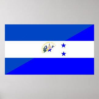 Póster medio símbolo del país de la bandera de El