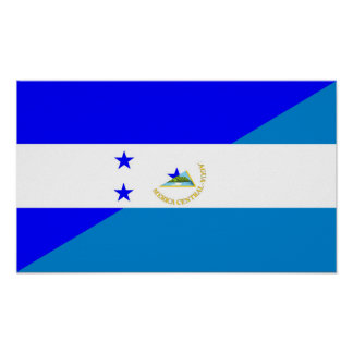 Póster medio símbolo del país de la bandera de Honduras