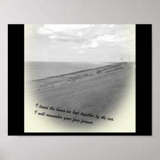 Póster Memoria de la playa del vintage