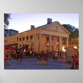 Póster Mercado histórico Boston céntrica de Quincy