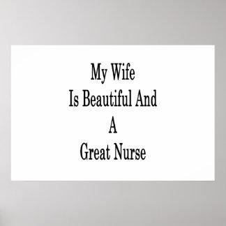 Póster Mi esposa es hermosa y gran enfermera