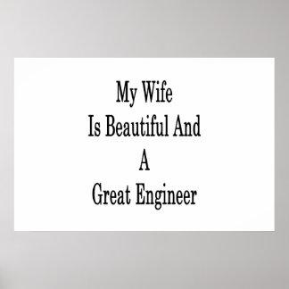 Póster Mi esposa es hermosa y gran ingeniero