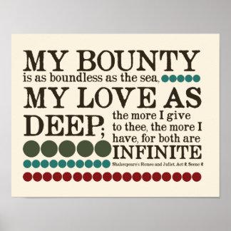 Póster Mi generosidad es tan ilimitada como el mar…