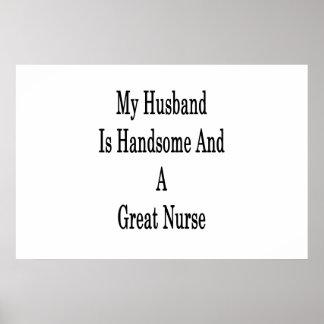 Póster Mi marido es hermoso y gran enfermera