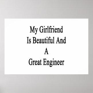 Póster Mi novia es hermosa y gran ingeniero
