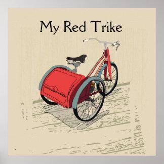 Póster Mi Trike rojo