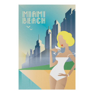 Póster Miami Beach