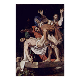 Póster Miguel Ángel Merisi DA Caravaggio - Entombment