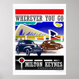 Póster Milton Keynes: Dondequiera que usted vaya…
