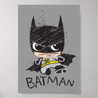 Póster Mini bosquejo clásico de Batman