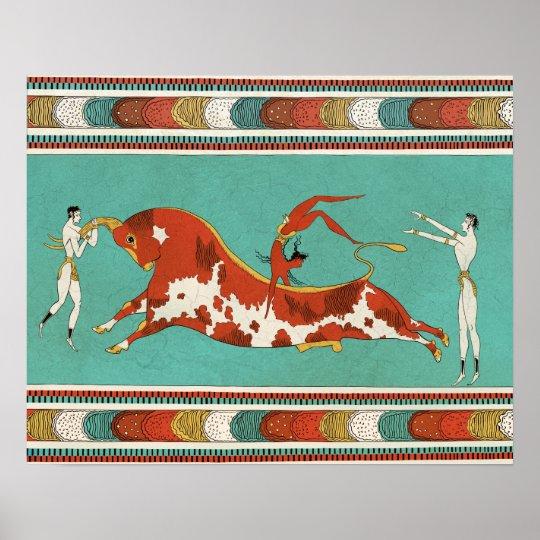 Póster Minotauro, el toro de Creta