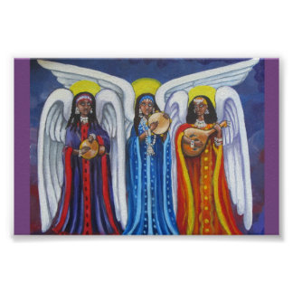 Poster minúsculo del trío de la música del ángel póster