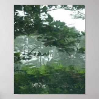 Póster Mirada a través de la lluvia 2 - foto abstracta