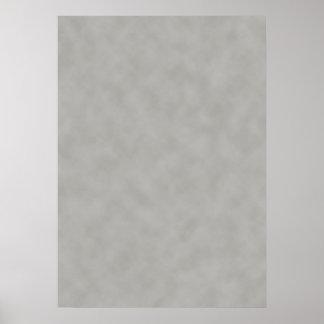 Póster Mirada gris oscuro del pergamino