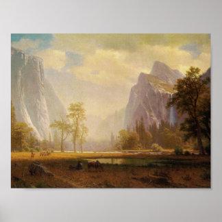 Póster Mirando para arriba el valle de Yosemite - Albert