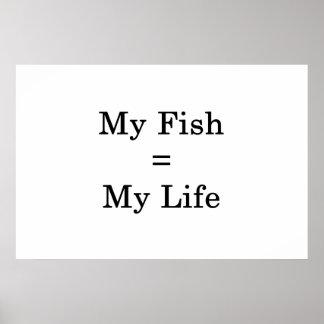 Póster Mis iguales de los pescados mi vida