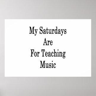 Póster Mis sábados están para la música de enseñanza