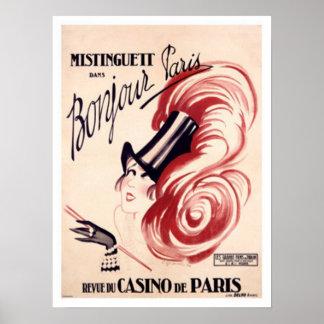 Póster Mistinguett, Bonjour París
