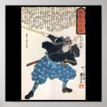 Póster Miyamoto Musashi que pinta C. 1800's