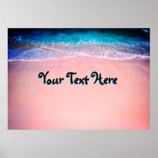 Póster Modifique su poster exótico de la playa para