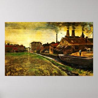 Póster Molino del hierro en La Haya de Vincent van Gogh