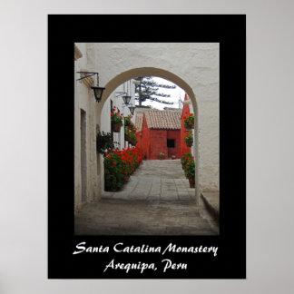 Póster Monasterio de Santa Catalina en Arequipa Perú
