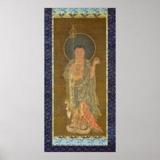 Póster Monje budista Kshitigarbha de Bhikkhu de la