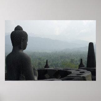 Póster Monje de Borobudur