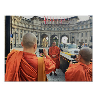 Póster Monjes budistas en el poster de Londres