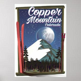 Póster Montaña del cobre del poster del viaje de Colorado