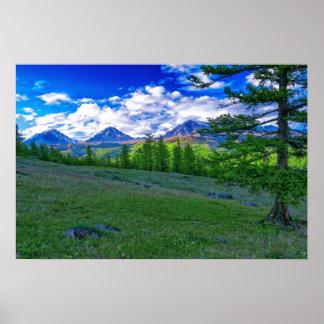 Póster Montaña mongol