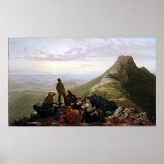 Póster Montaña tardía de Mansfield del fiesta de Jerome