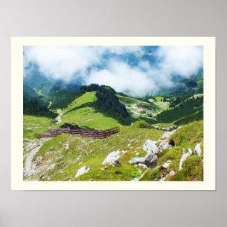 Póster Montañas austríacas