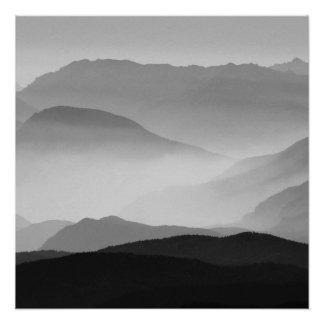 Póster Montañas de B&W