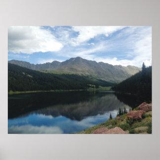 Póster Montañas de Colorado y poster de la reflexión del