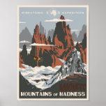 Póster Montañas de la locura