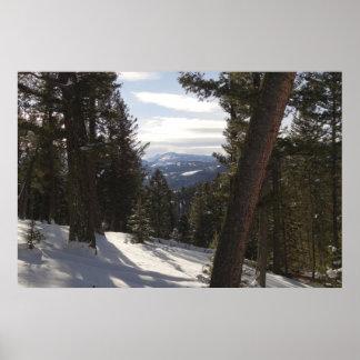 Póster Montañas de Madison en invierno en Montana