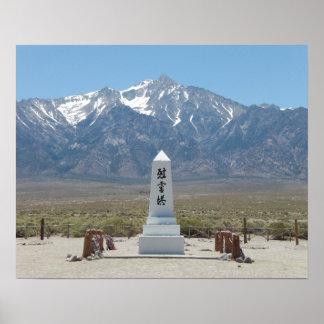 Póster Monumento de guerra de Manzanar