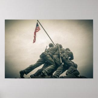 Póster Monumento de Iwo Jima en Washington DC