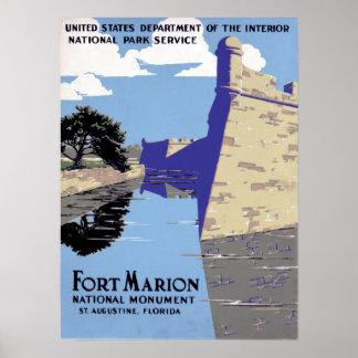 Póster Monumento nacional St Augustine de Marion del