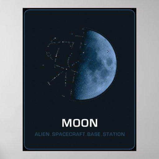 Póster MOON  The Ancient Alien Spacecraft