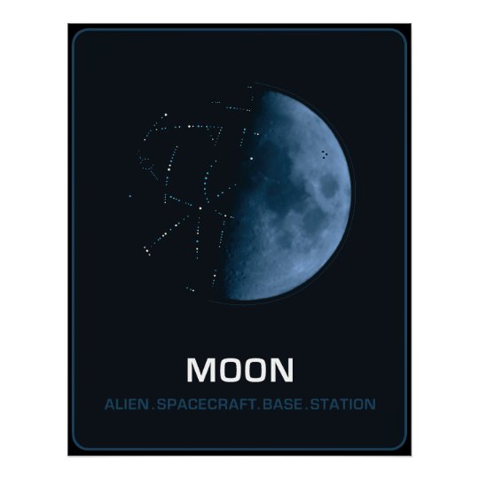 Póster MOON  The Ancient Alien Spacecraft