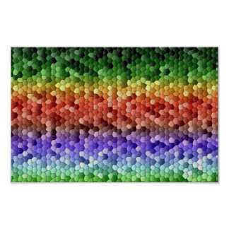 Póster Mosaico del arco iris