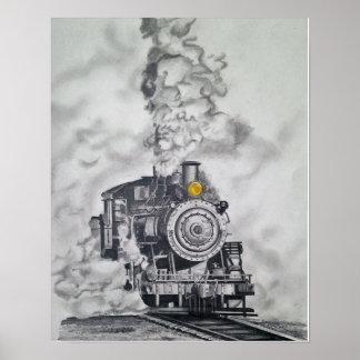 Póster Motor de vapor