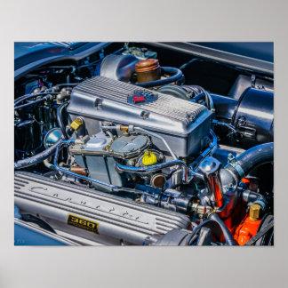 Póster Motor inyectado combustible del Corvette